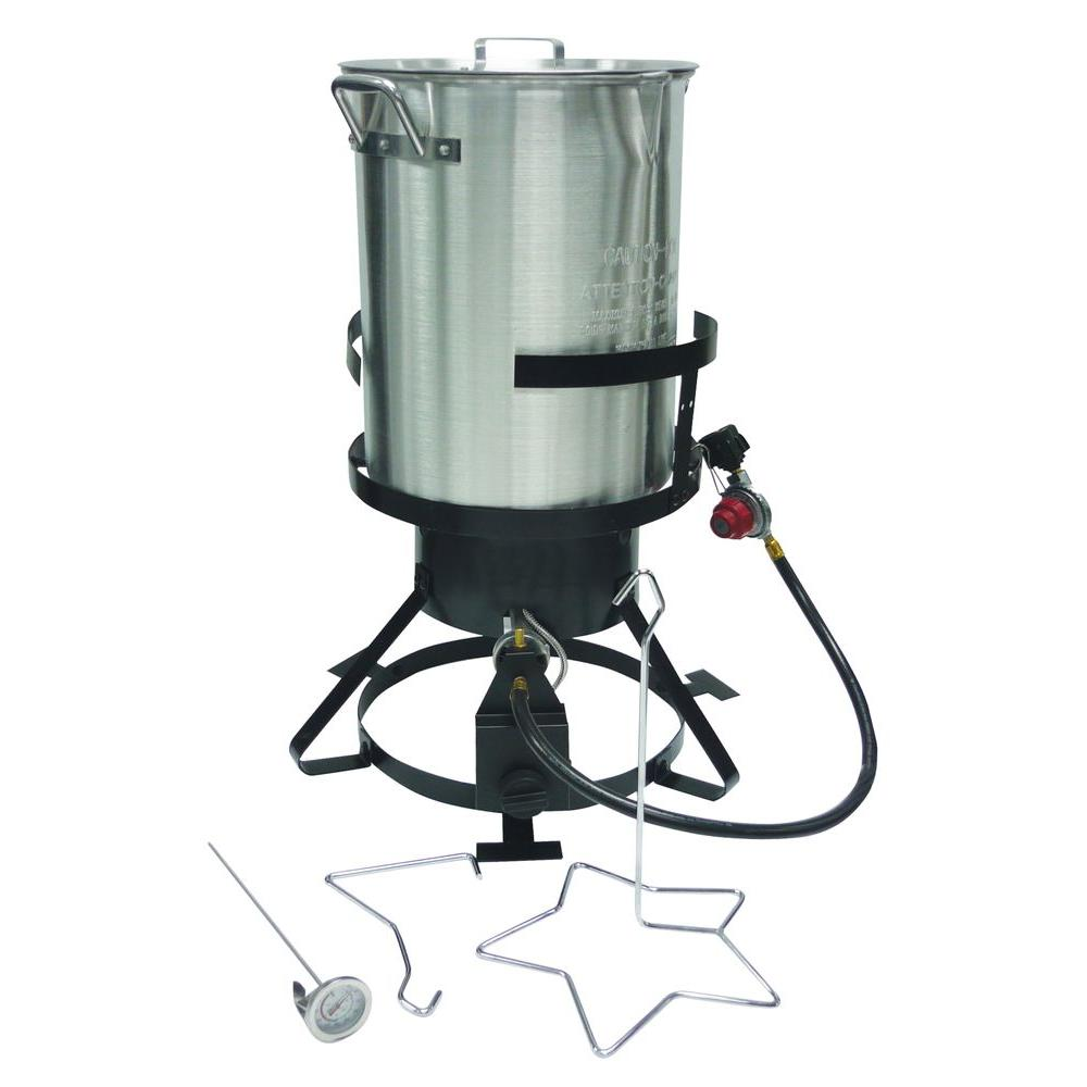 TURKEY FRYER WITH 30 QUART STAINLESS STEEL POT