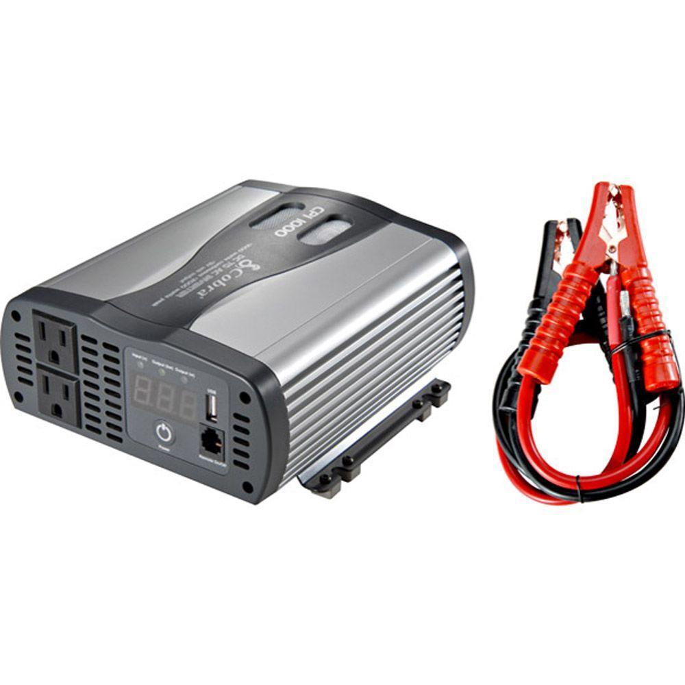 Cobra 1,000-Watt Dual-Outlet Power Inverter