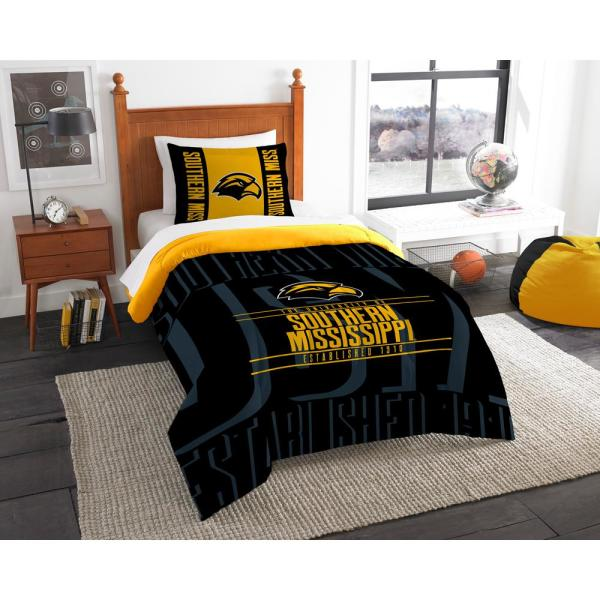 quality design 005fb 15f63 undefined Southern Mississippi 2 PC Modern Take MULTI Twin Comforter Set