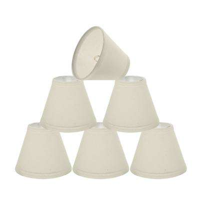 6 in. x 5 in. Off White Cotton Hardback Empire Lamp Shade (6-Pack)
