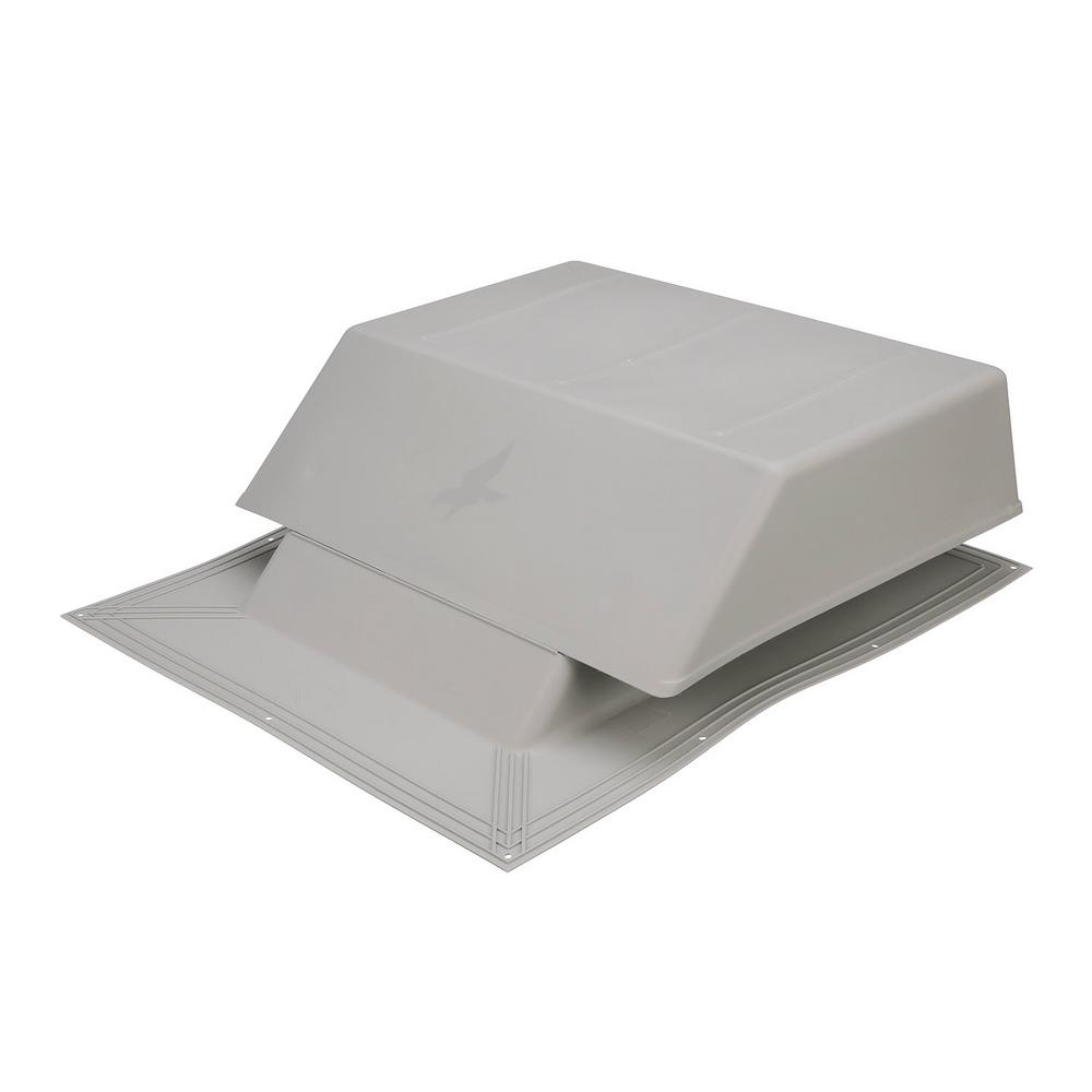 Air Vent 150 sq. in. NFA Plastic Slant-Back Roof Louver Static Vent in Gray (Sold in Carton of 2 only)