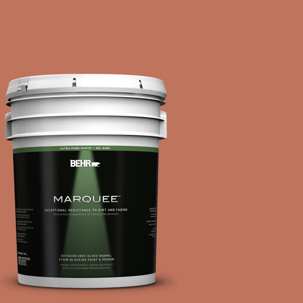 5-gal. #PMD-11 Warm Terra Cotta Semi-Gloss Enamel Exterior Paint