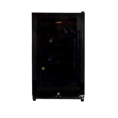 3.9 cu. ft. 35-Bottles Single Zone Wine Cooler in Black