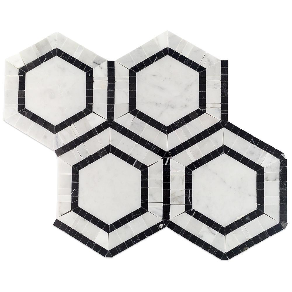 Black White Tile Backsplashes