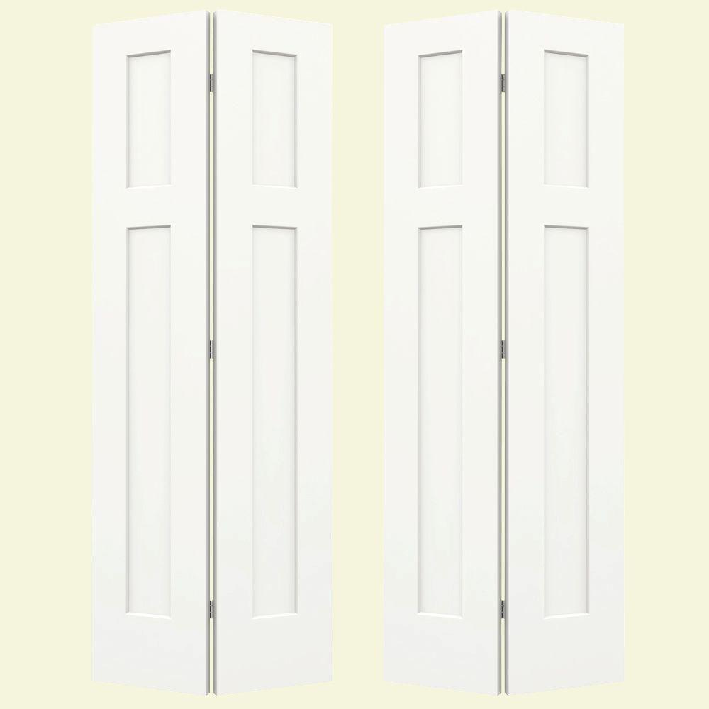 Jeld Wen 36 In X 80 In Craftsman White Painted Smooth Molded