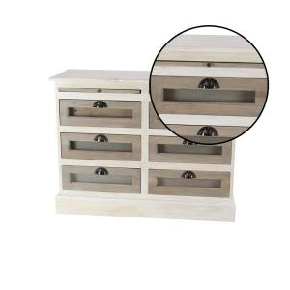 Amazing Litton Lane 6 Drawer White Wooden Chest With Glass Panels Uwap Interior Chair Design Uwaporg