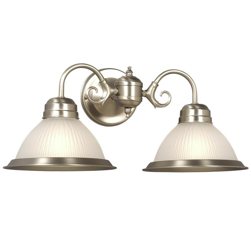 Filament Design Vanity Lighting : Filament Design Negron 2-Light Pewter Incandescent Bath Vanity Light-CLI-XY5158117 - The Home Depot
