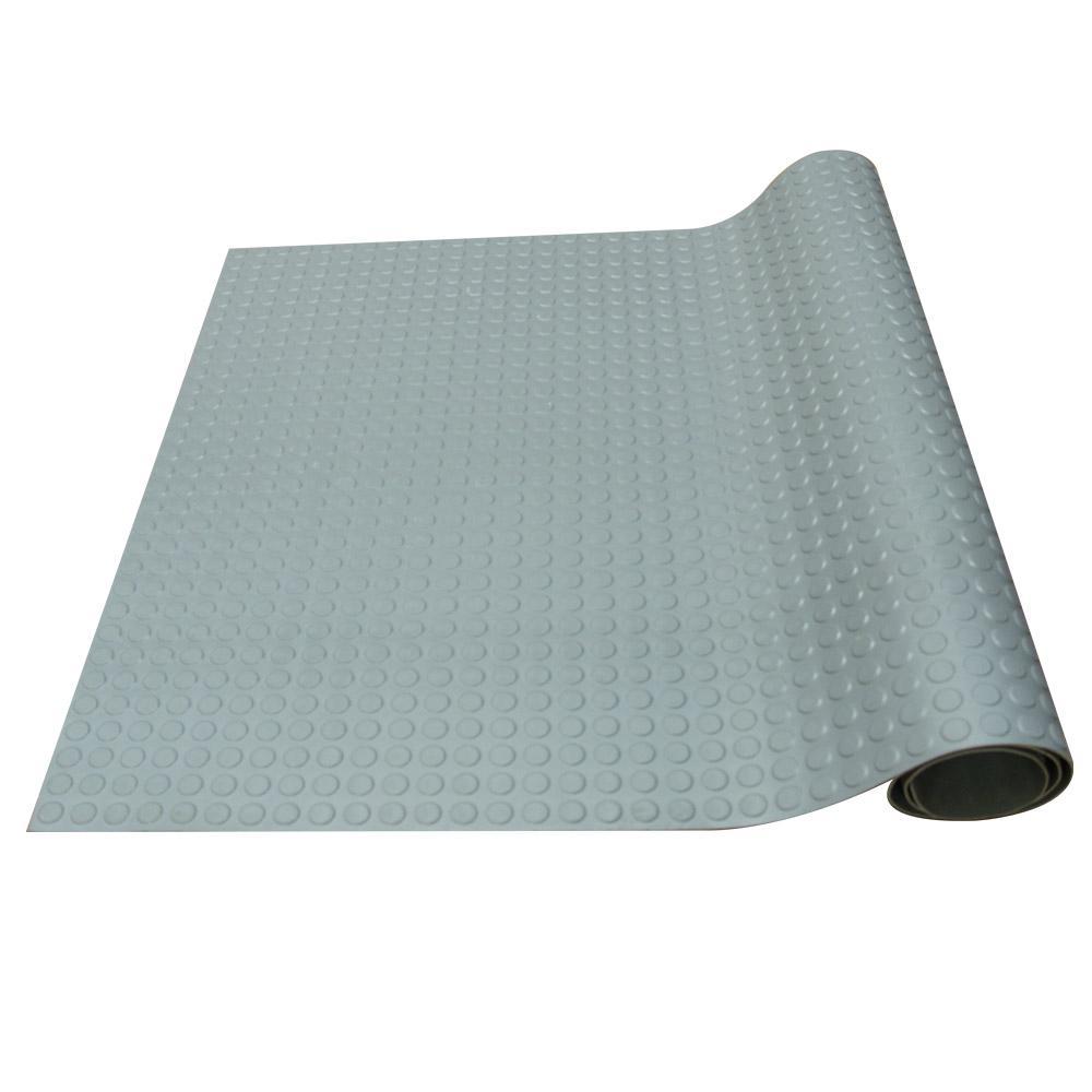 Coin-Pattern Rubber Flooring Dark Gray 36 in. W x 300 in. L Rubber Flooring (75 sq. ft.)