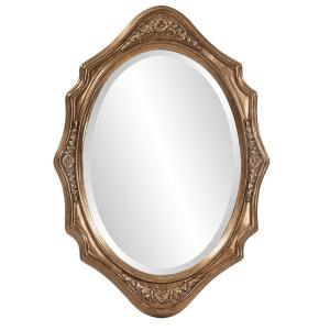 27 In X 19 In Grooved Wood Silver Leaf Framed Mirror