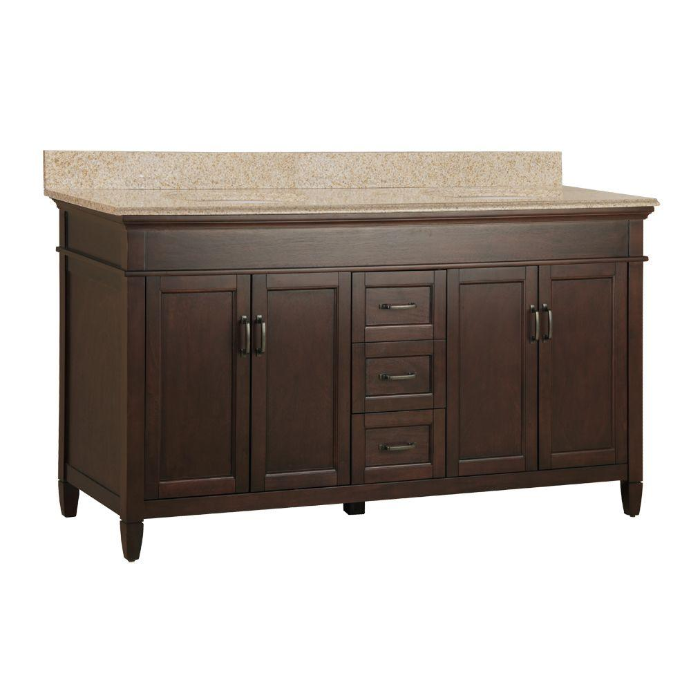 Foremost ashburn 61 in w x 22 in d double bath vanity in for Foremost home