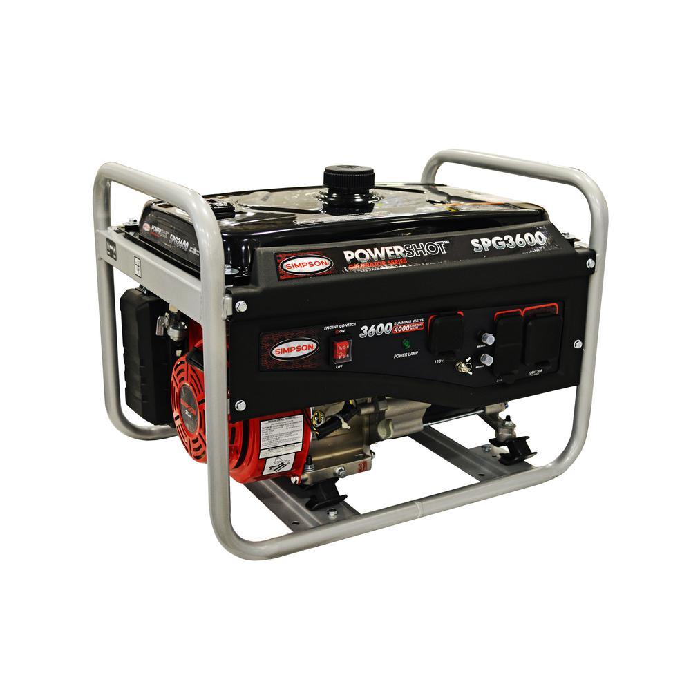 3,600-Watt Gasoline Powered Portable Generator (49-State)