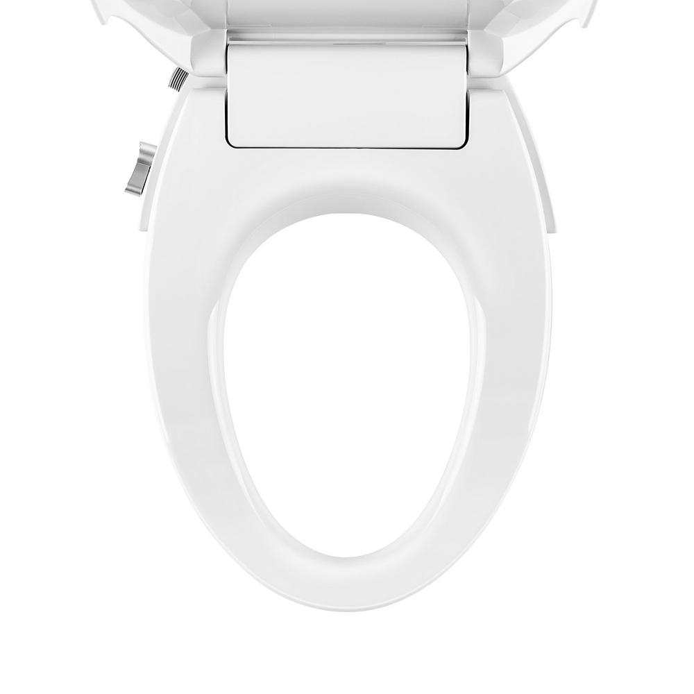 Empava Non Electric Elongated Closed Front Bidet Toilet Seat For V Shape Toilets In White Emp Eb02v The Home Depot