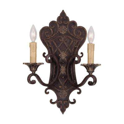 2-Light Florencian Bronze Sconce