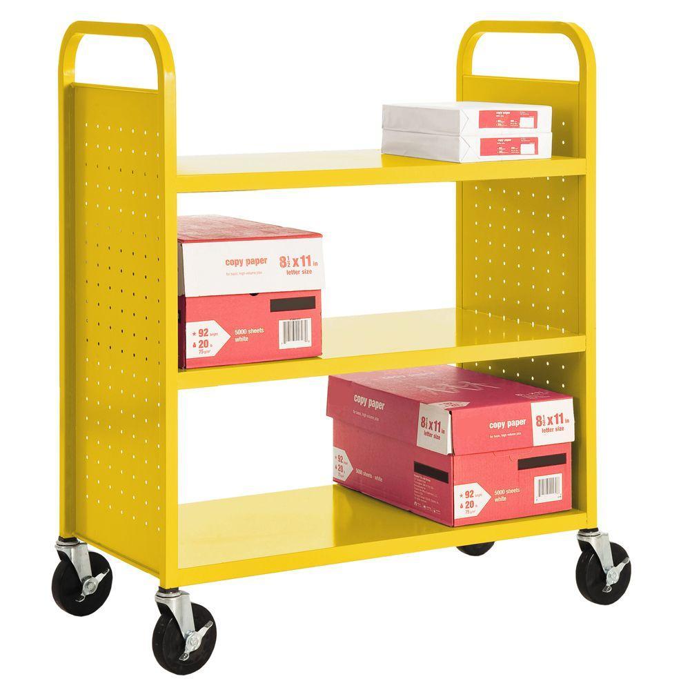Sandusky Sunshine Mobile Steel Bookcase