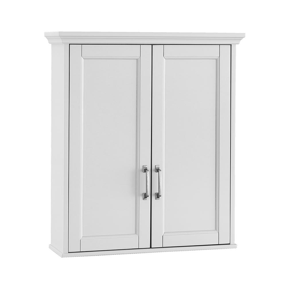 Ashburn 23-1/2 in. W x 27 in. H x 8 in. D Bathroom Storage Wall Cabinet in White