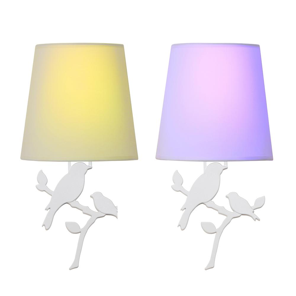 Toucan White Battery Operated Wall Light Bird Integrated LED Sconce (2-Pack) was $119.0 now $49.99 (58.0% off)