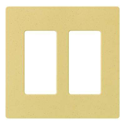 Claro 2 Gang Decorator Wallplate, Goldstone