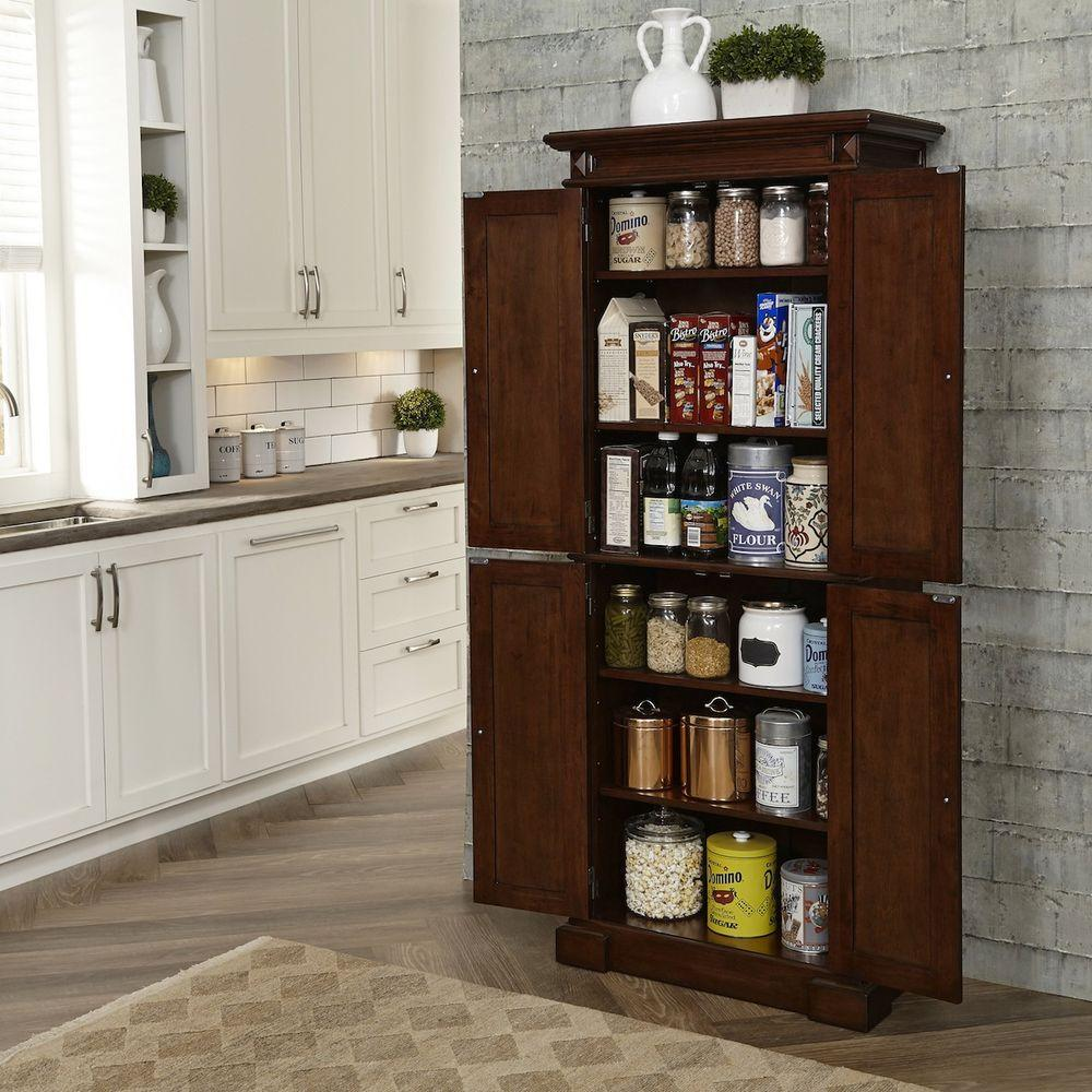 Home Styles Cherry Food Pantry 5005 69 The Home Depot