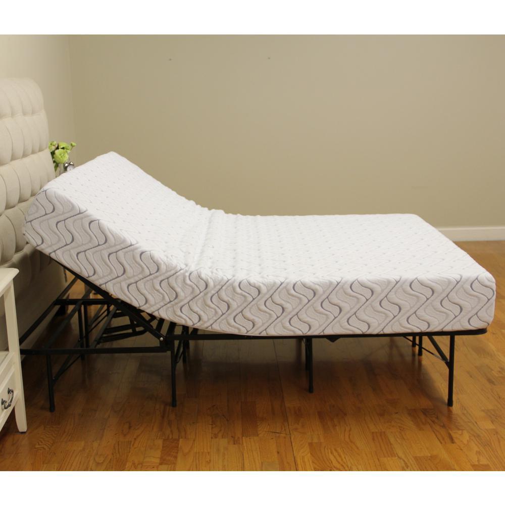 h adjustable heavy duty metal platform bed frame