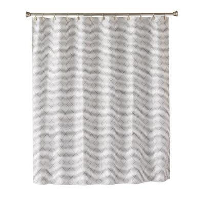 Geo Diamond 72 in. Charcoal Shower Curtain