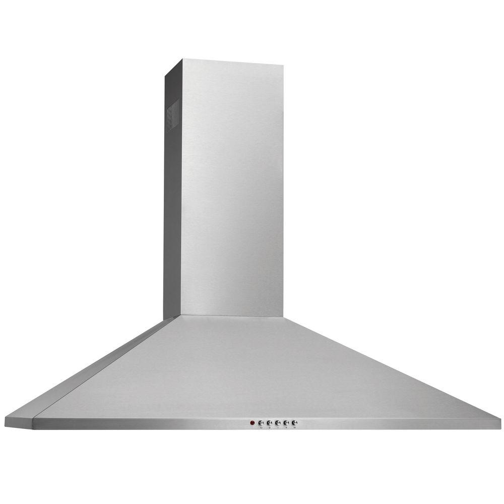36 in. Convertible Wall Mount Chimney Range Hood in Stainless Steel