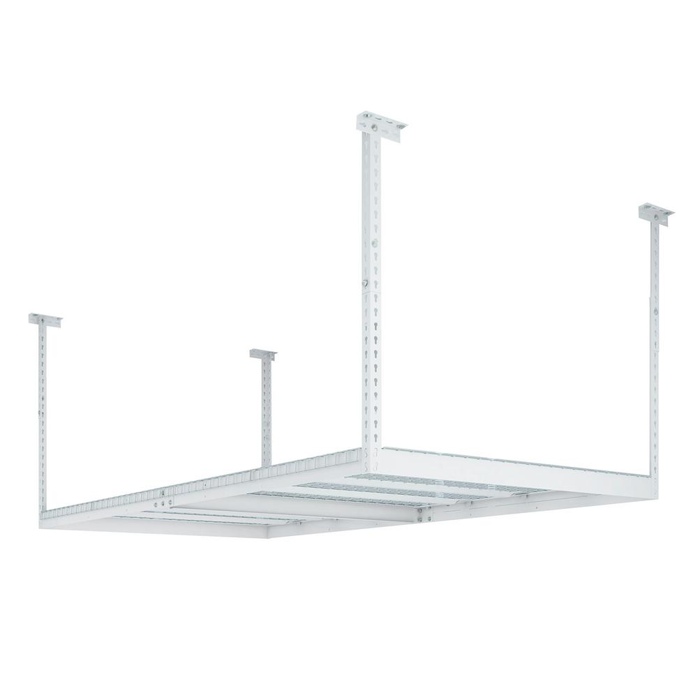 NewAge Products Performance 96 in. L x 48 in. W x 42 in. H Adjustable VersaRac Ceiling Storage Rack in White