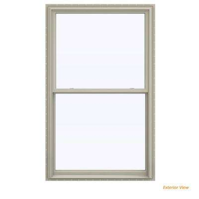 43.5 in. x 71.5 in. V-2500 Series Desert Sand Vinyl Double Hung Window with BetterVue Mesh Screen