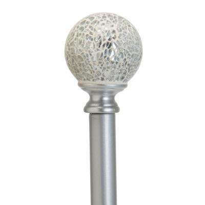 Palermo 48 in. to 86 in. Adjustable Single Curtain Rod