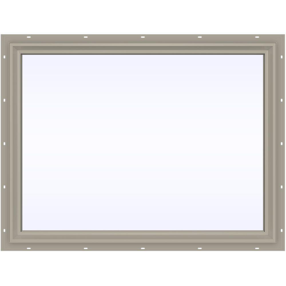 JELD-WEN 47.5 in. x 35.5 in. V-2500 Series Fixed Picture Vinyl Window - Tan