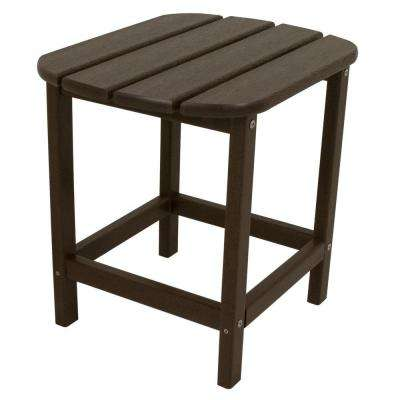 South Beach 18 in. Mahogany Patio Side Table