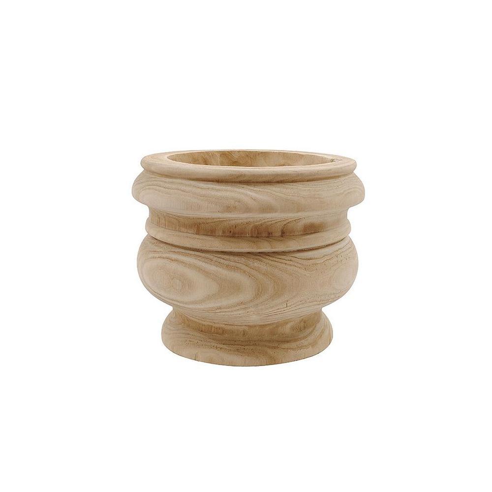 Clancy Natural Wood Urn Planter