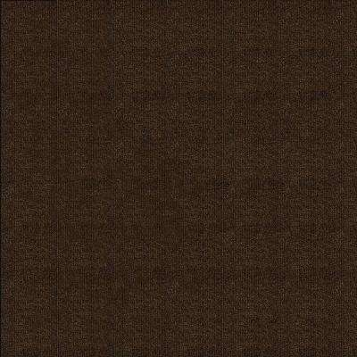 Walnut Ribbed Texture 18 in. x 18 in. Carpet Tile (16 Tiles/Case)