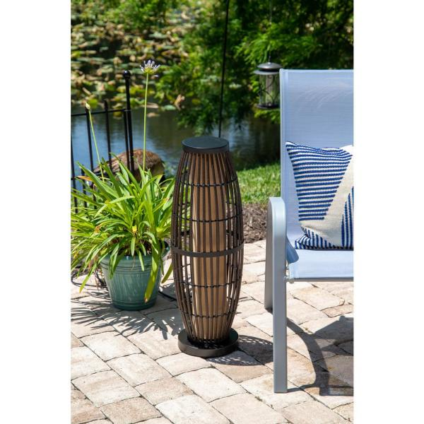 Kenroy Home Biscayne 31 In Rattan Outdoor Table Lamp 32247rat The Home Depot