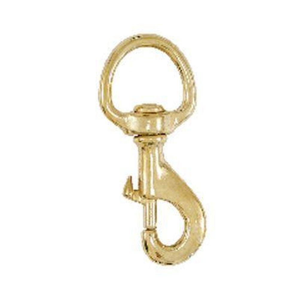 Lehigh 3-1/2 in. x 1 in. 70 lb. Brass Swivel Eye Bolt Snap Hook (6-Pack)