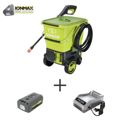 40-Volt 1160 PSI 0.79 GPM Cold Water Cordless Electric Pressure Washer Kit with 4.0 Ah Battery + Charger