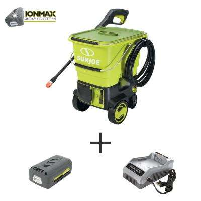 1160 Max PSI 0.79 GPM 40-Volt Cordless Electric Pressure Washer Kit with 4.0 Ah Battery + Charger