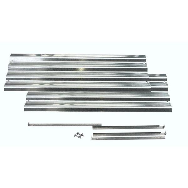 Bajo Series 36 in. x 10 in. Galvanized Metal Raised Garden Bed Extension Set
