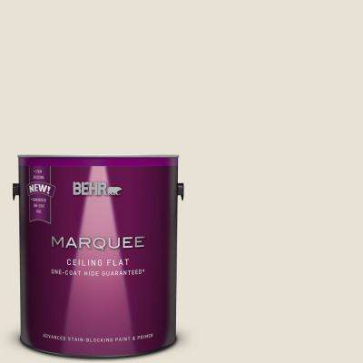 1 gal. #MQ3-13 Tinted to Crisp Linen One-Coat Hide Flat Interior Ceiling Paint and Primer in One