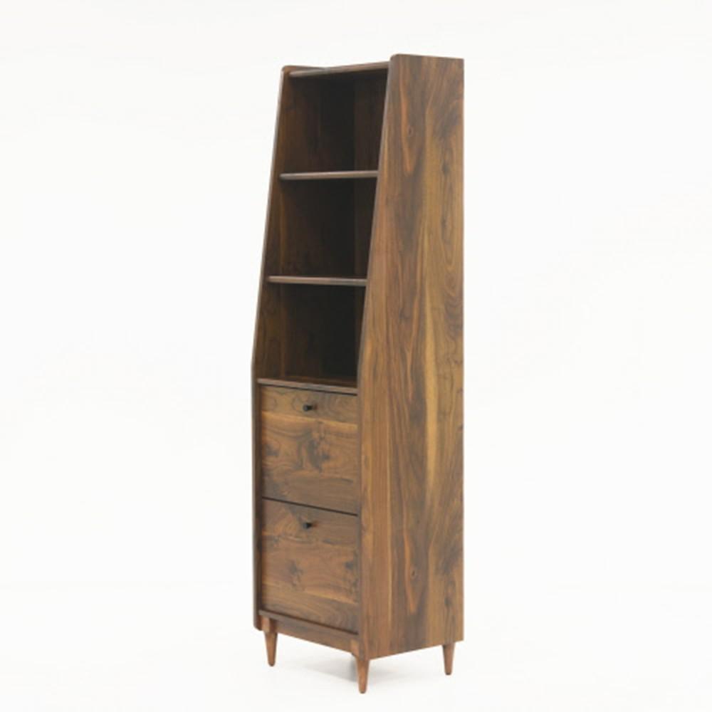 Harvey Park Grand Walnut Narrow Bookcase