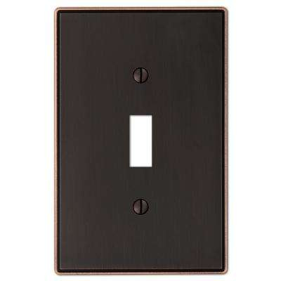 Ansley 1 Gang Toggle Metal Wall Plate - Aged Bronze