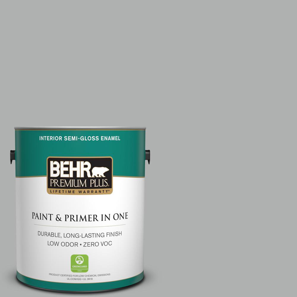 BEHR Premium Plus 1-gal. #780F-4 Sparrow Zero VOC Semi-Gloss Enamel Interior Paint