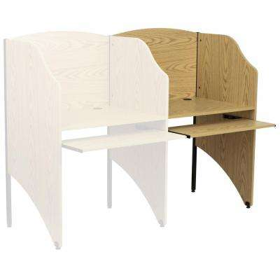Oak Finish Add-On Study Carrel