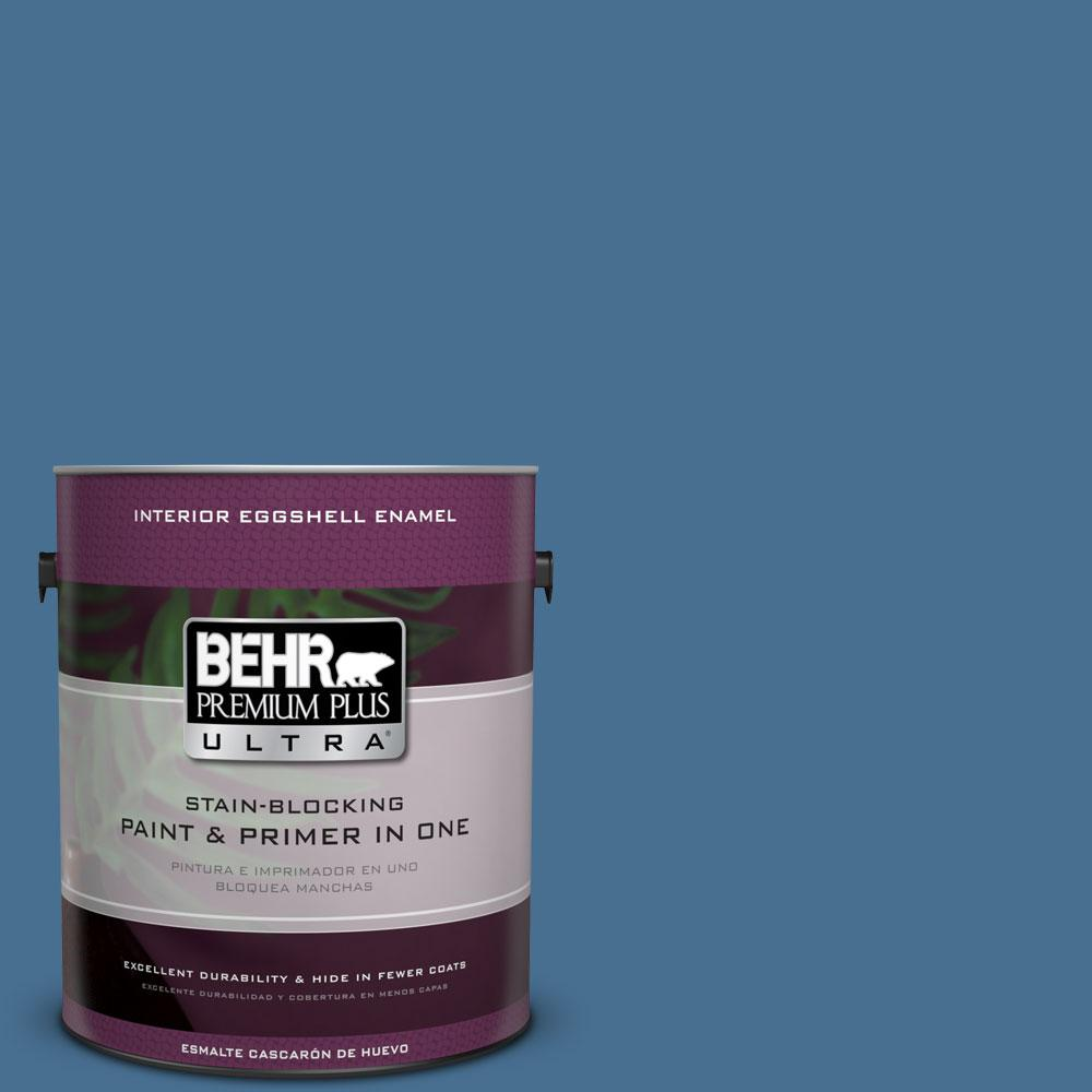 BEHR Premium Plus Ultra 1-gal. #M510-5 Sailor's Bay Eggshell Enamel Interior Paint