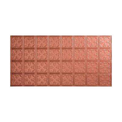 Traditional 10 - 2 ft. x 4 ft. Glue-up Ceiling Tile in Argent Copper