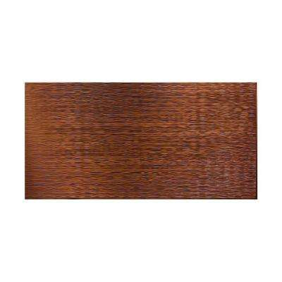 Ripple Horizontal 96 in. x 48 in. Decorative Wall Panel in Oil Rubbed Bronze