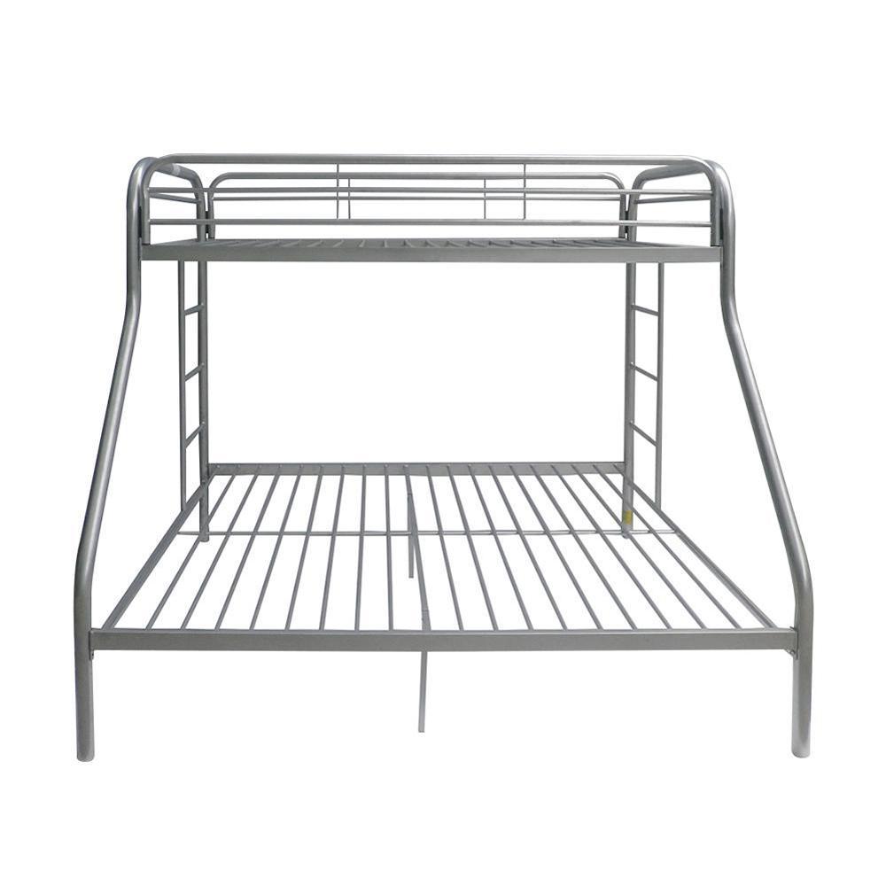 ACME Furniture Tritan Silver Twin Over Queen Metal Bunk Bed