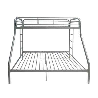 Tritan Silver Twin Over Queen Metal Bunk Bed