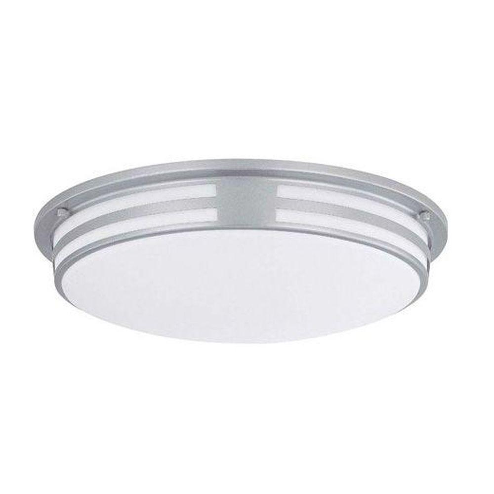 Illumine Designer Collection 2 Light Silver Flush Mount