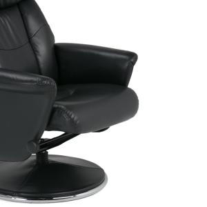 +5  sc 1 st  The Home Depot & Simpli Home Carson Black Air Leather Euro Recliner (Set of 1 ... islam-shia.org