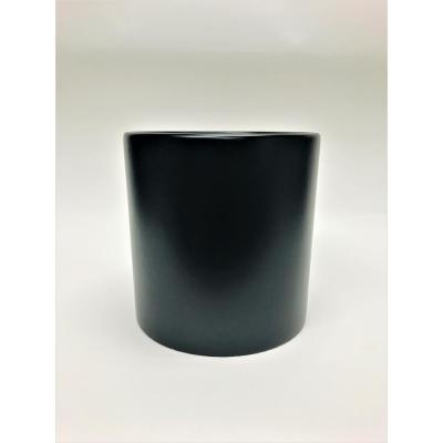 Silas 20 in. Black Fiberglass Pot